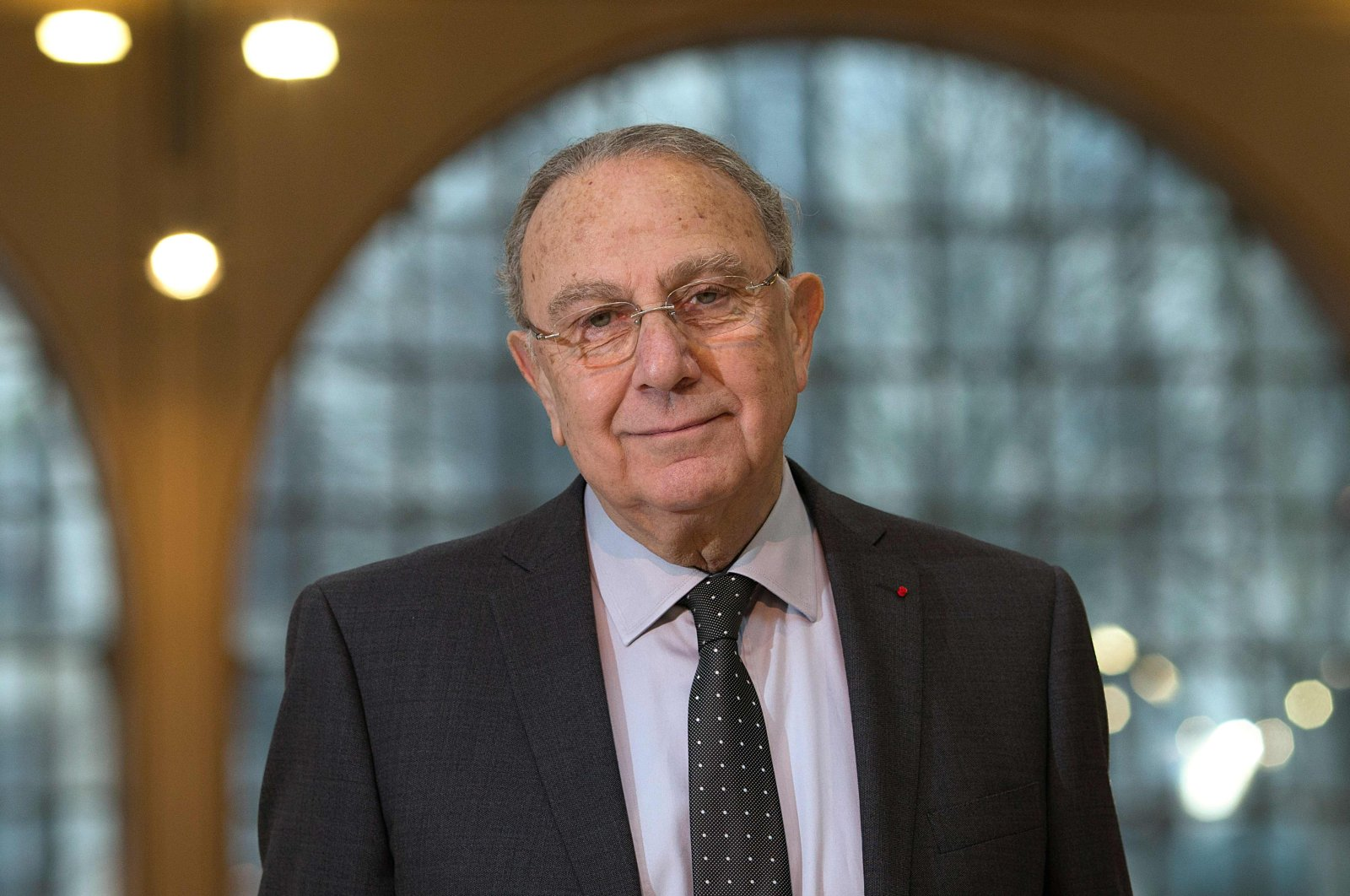 Socialist Mayor of the 3rd arrondissement of Paris, Pierre Aidenbaum poses inside the Carreau du Temple venue in Paris, Feb. 20, 2014. (AFP Photo)