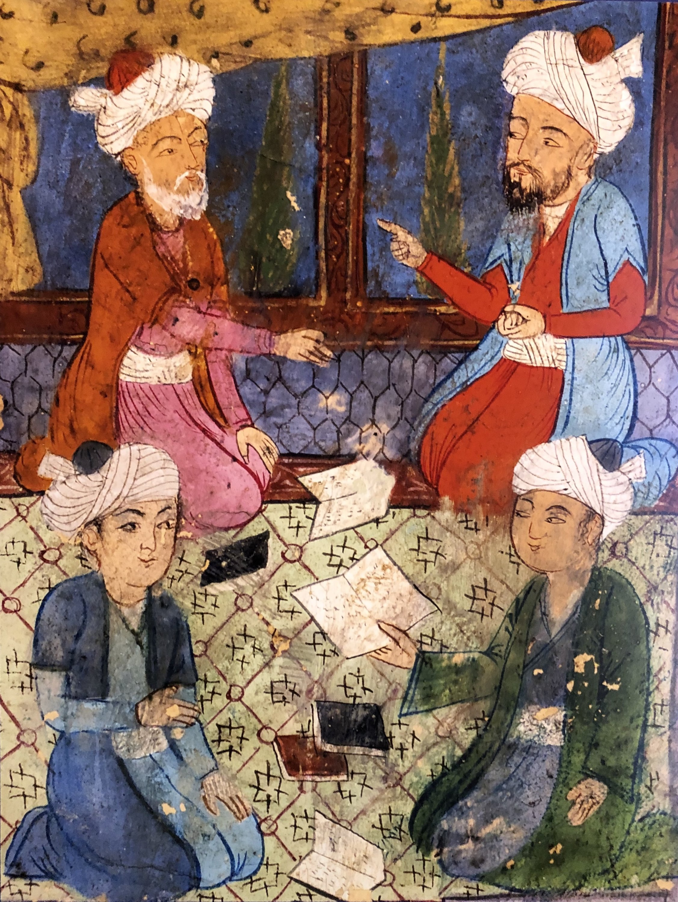 A visual work from the Diwan of Azeri poet Nimetullah Kişveri, 15th-16th century, from Istanbul Research Institute archive. (Photo by Matt Hanson)