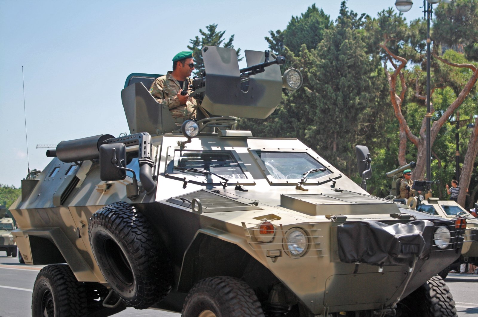 The Kobra armored tactical vehicle developed by Turkish firm Otokar seen in a military parade in the Azerbaijani capital Baku, June 26, 2011. (Photo by Wikipedia)
