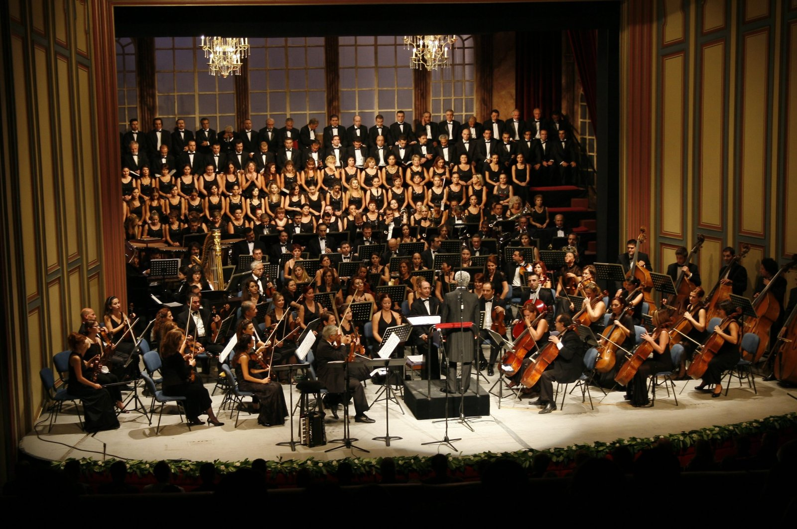 A photo from the opening concert of Ankara State Opera and Ballet in 2008-2009 art season in the capital Ankara. (Photo by Emre Karaca)