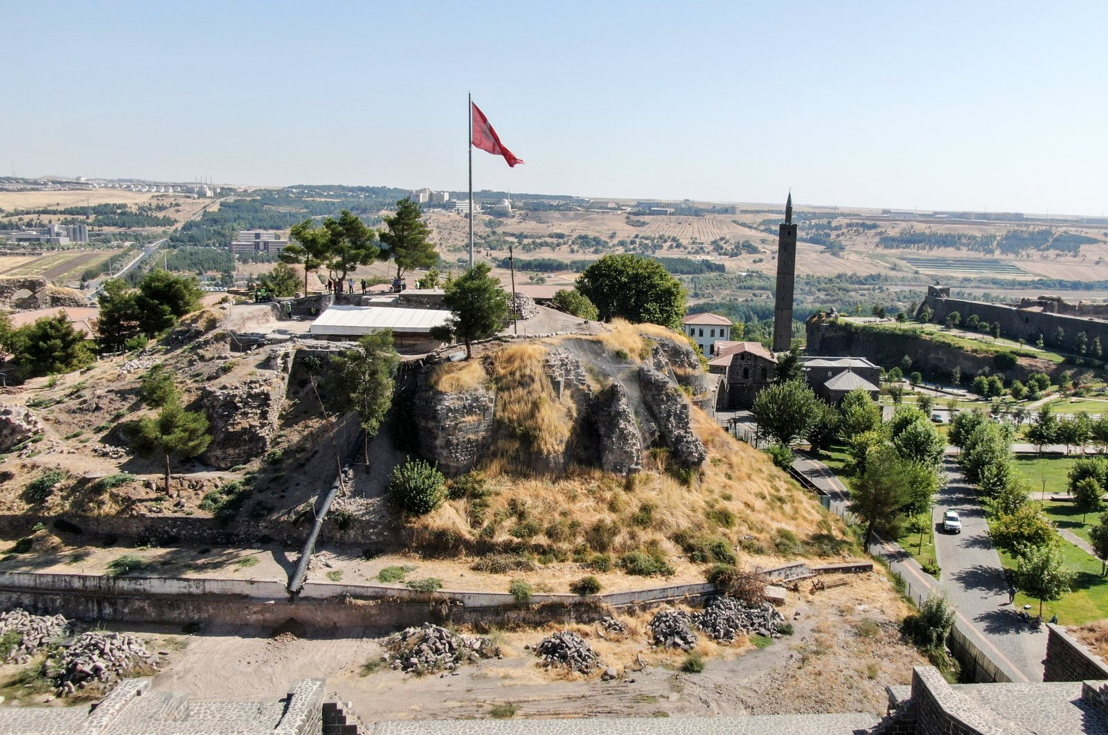 The Amida Mound, Diyarbakır, southern Turkey, Oct. 11, 2020. (AA PHOTO)