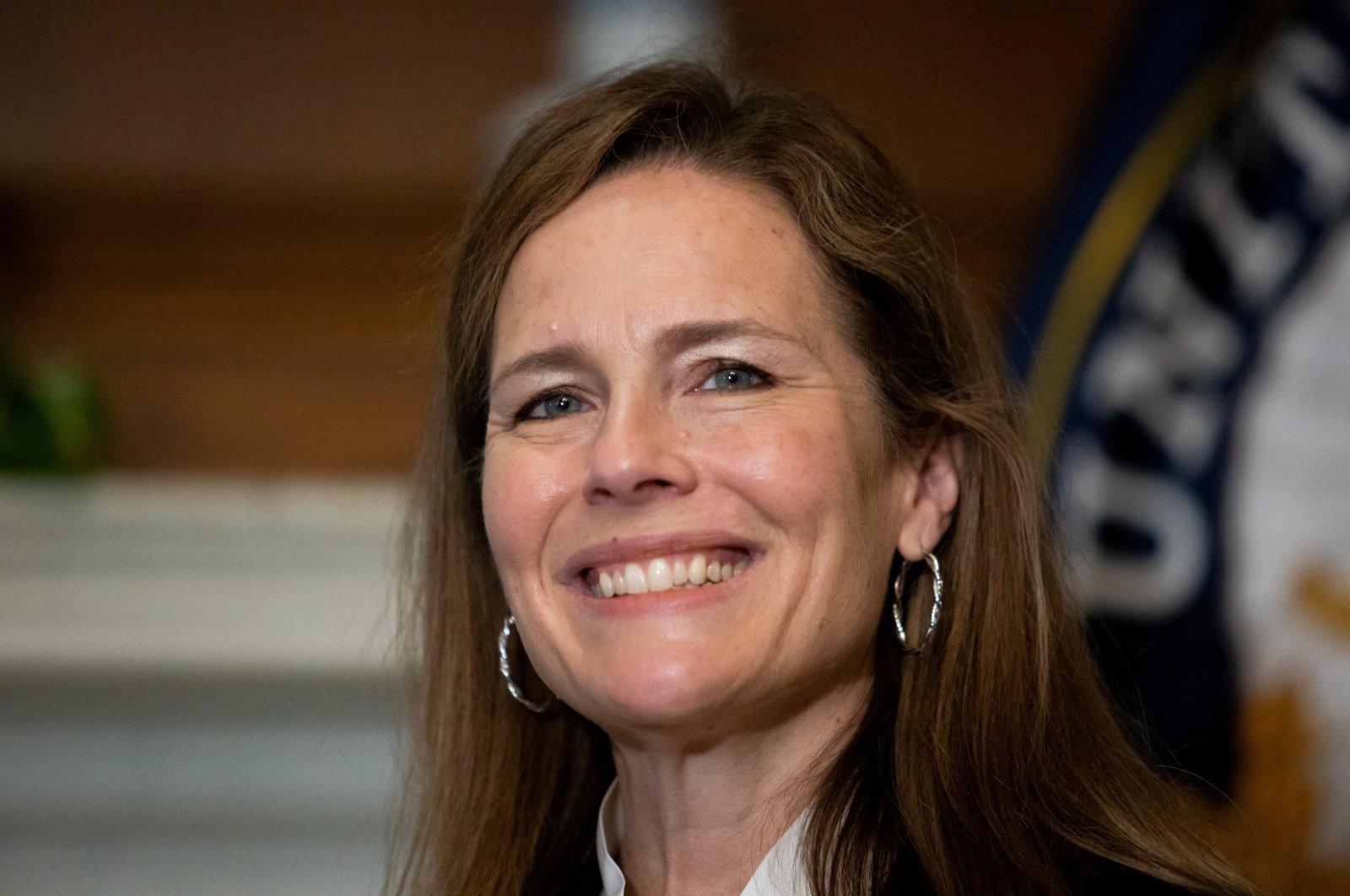 U.S. Supreme Court nominee Amy Coney Barrett at the U.S. Capitol in Washington, U.S. on Oct. 1, 2020. (Reuters Photo)