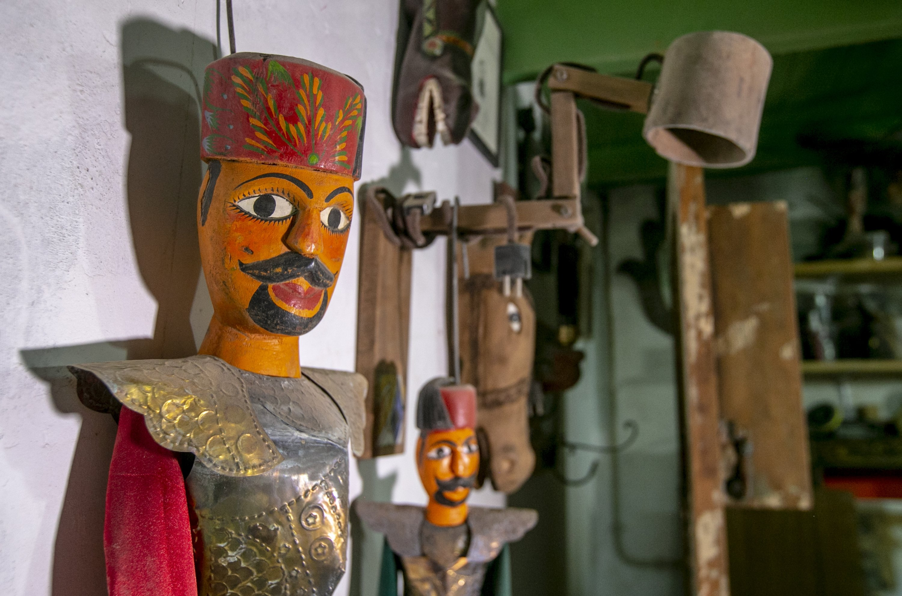 Two janissary puppets from the workshop of the Tunisians brothers in the capital Tunis, Tunisia, Oct. 10, 2020. (AA Photo)