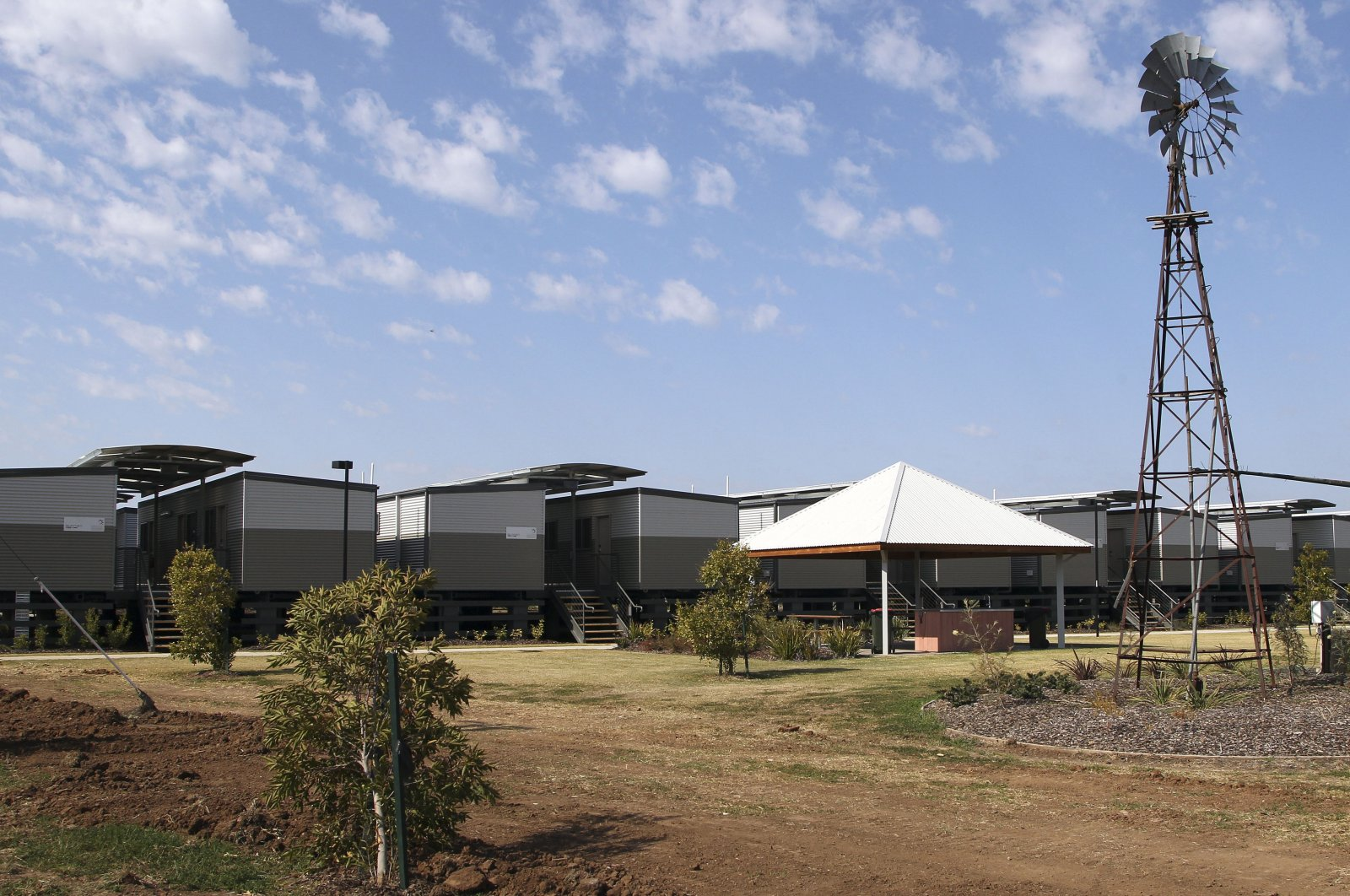 Temporary accommodations are being built to house workers for a local coal mining boom in Narrabri, Australia, near Gunnedah, 450 kilometers (280 miles) northwest of Sydney, Sept. 11, 2012. (AP Photo)