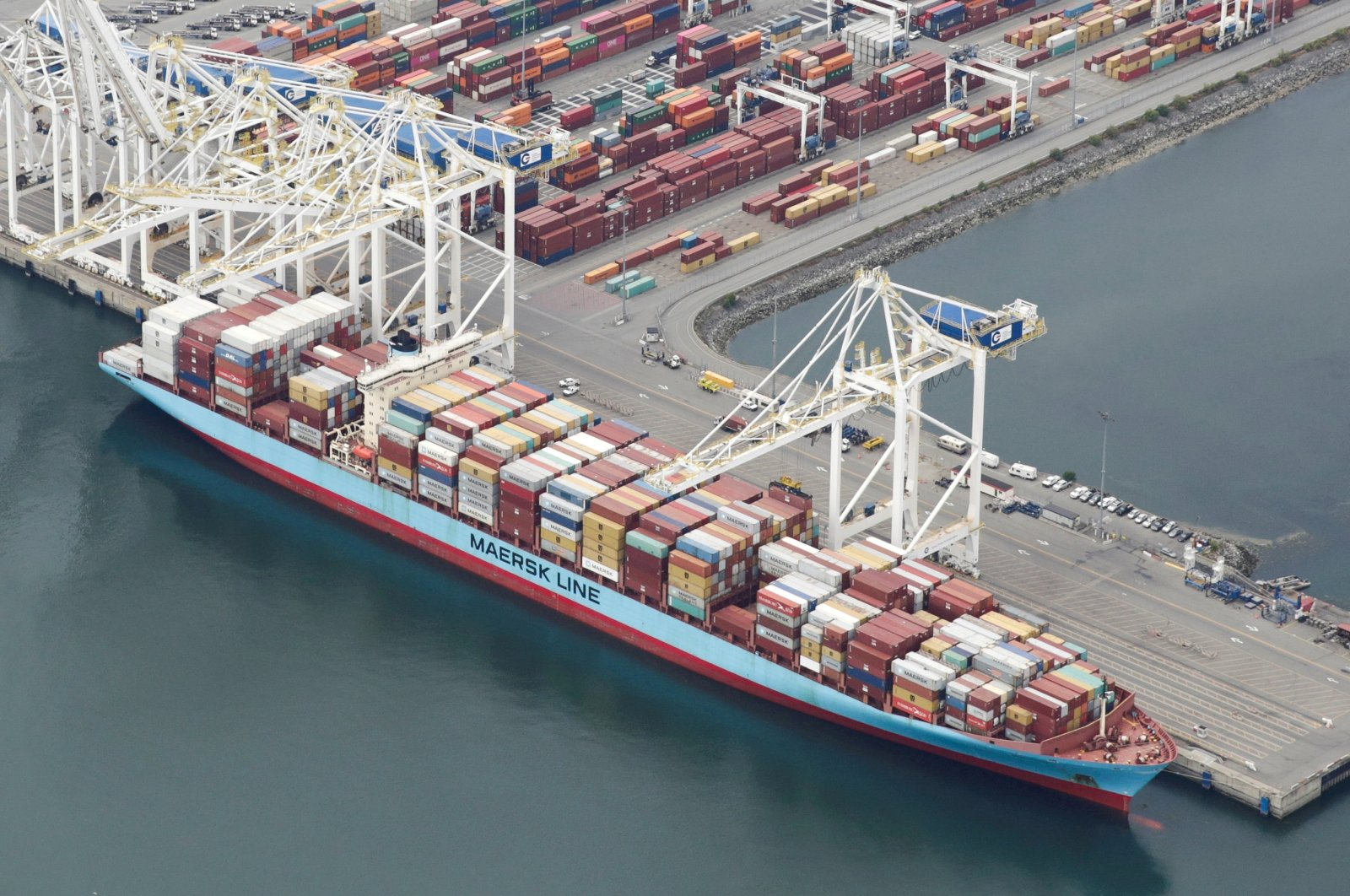 The ship Anna Maersk is docked at Roberts Bank port carrying 69 containers of mostly paper and plastic waste returned by the Philippines in Vancouver, British Columbia, Canada on June 29, 2019. (Reuters Photo)