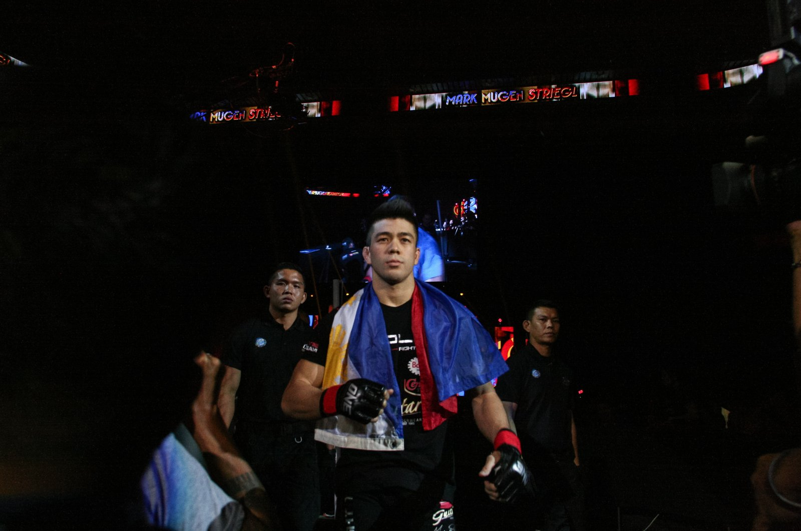 Mark Striegl walks on the cage before a martial arts event in Pasay, Philippines, April 24, 2015. (Getty Images)