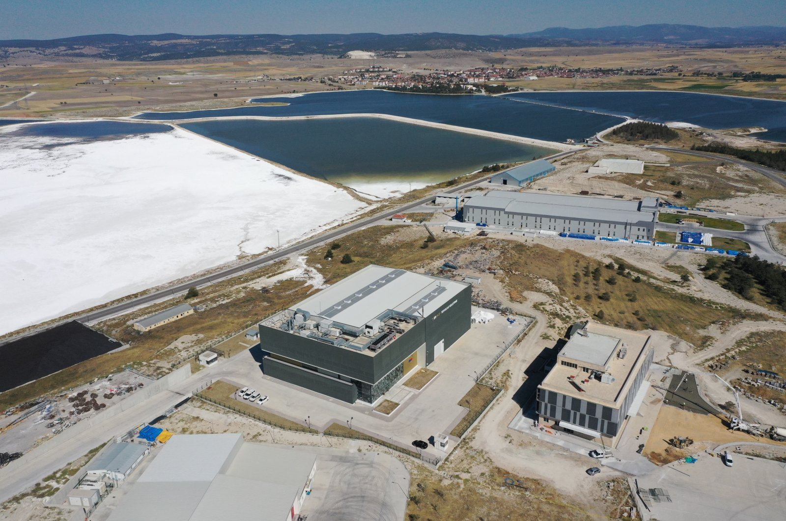 A view of the facility where lithium will be produced from boron resources in the northwestern province of Eskişehir, Turkey, Oct. 12, 2020. (AA Photo)