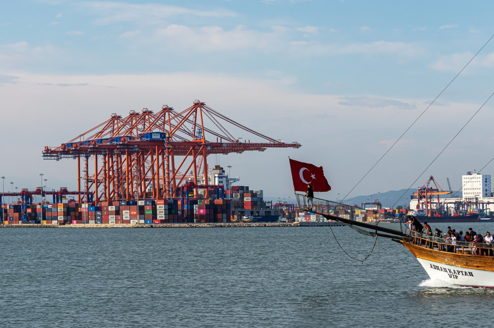 Shipping containers at the Mersin International Port on Turkey's Mediterranean coast, June 14, 2020. (iStock Photo)