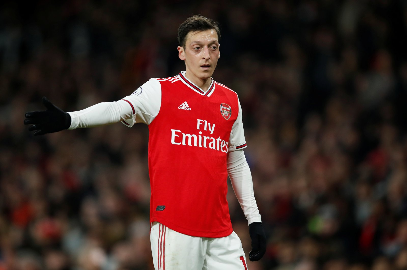 Arsenal's Mesut Özil reacts during a Premier League match against Everton, in London, Britain, Feb. 23, 2020. (Reuters Photo)