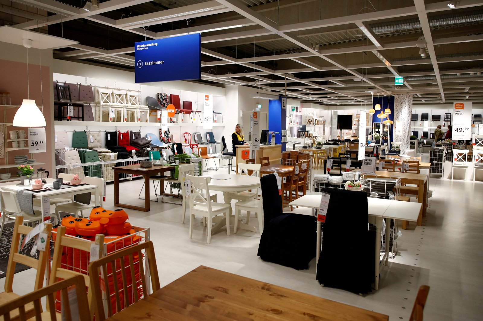 A showroom of an IKEA store, the world's biggest furniture group, in Kaarst near Duesseldorf, Germany, April 3, 2019.          (Reuters Photo)