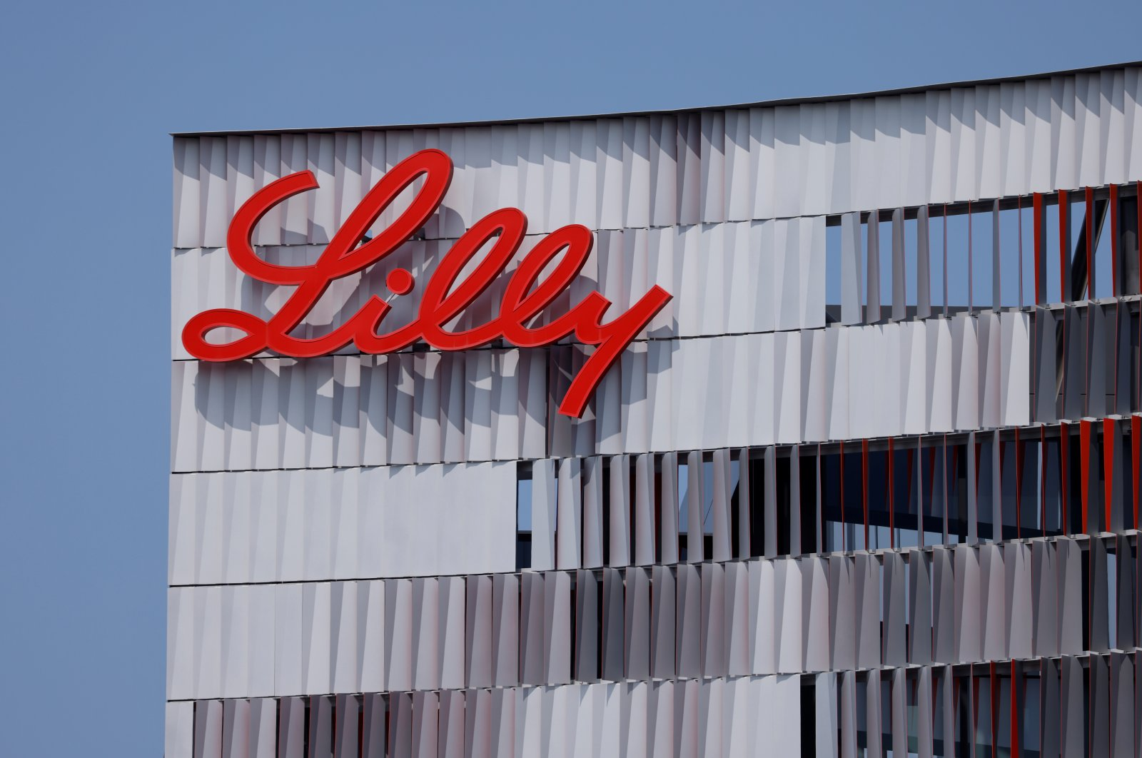 Eli Lilly logo is shown on one of the company's offices in San Diego, California, Sept. 17, 2020. (Reuters Photo)