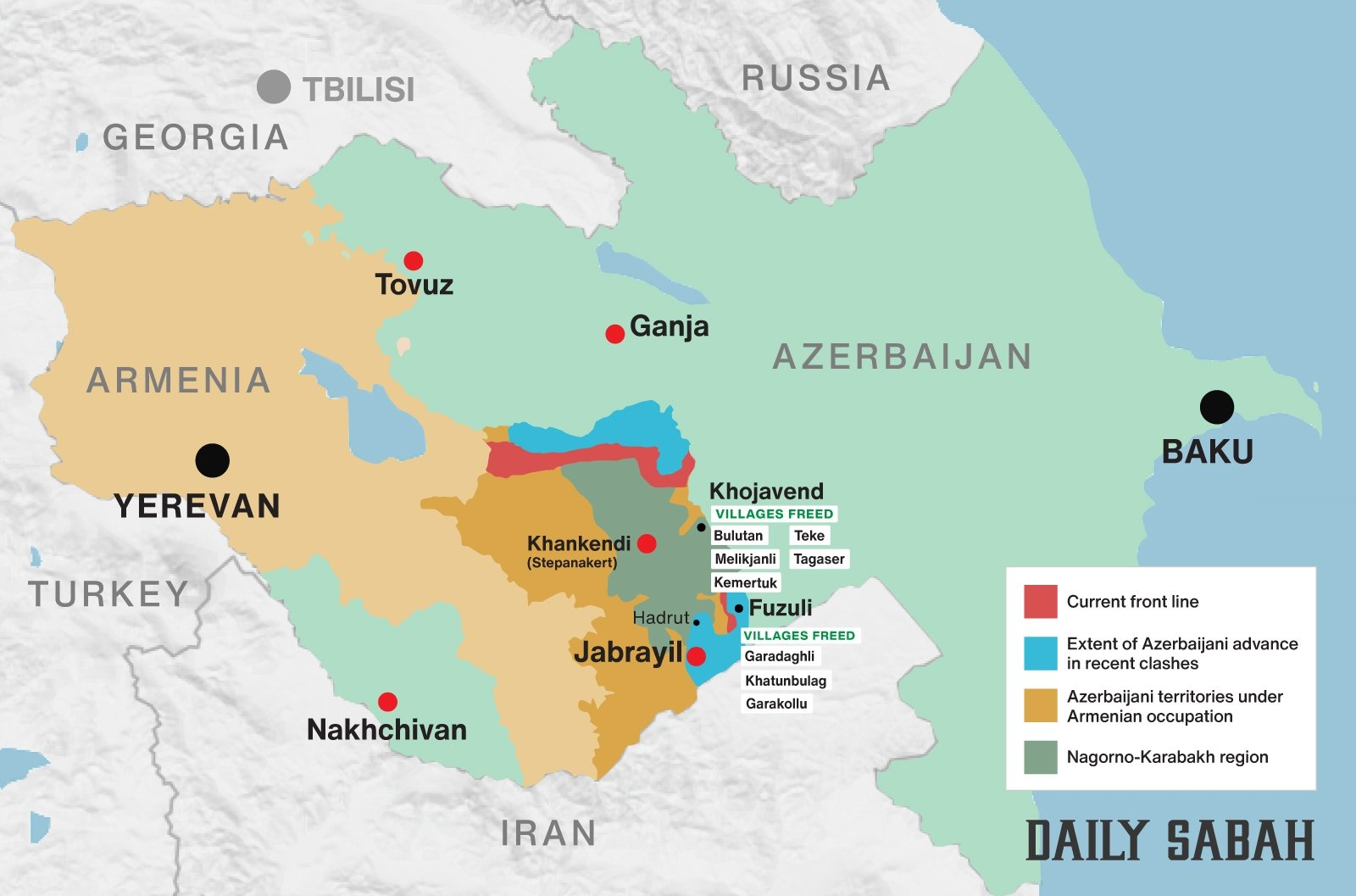 Azerbaijan Continues Operations To Free Armenian Occupied Territories In Nagorno Karabakh Daily Sabah