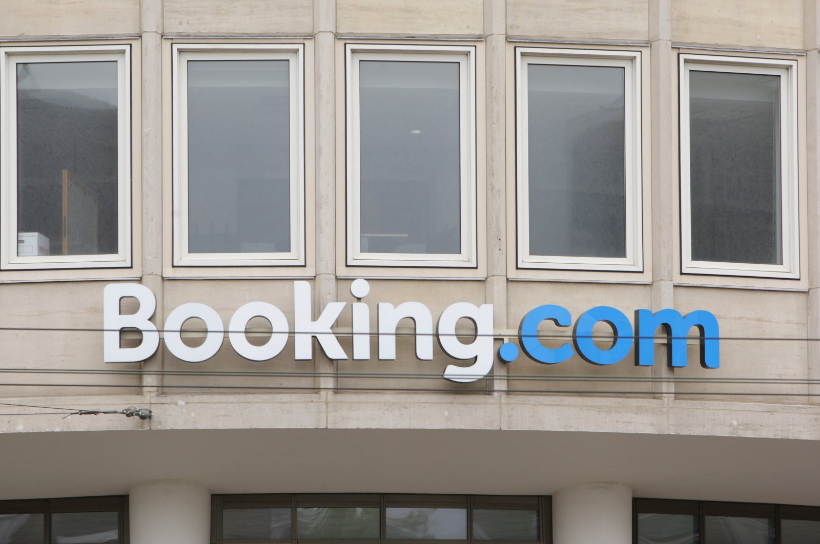Booking.com headquarters seen in Amsterdam, the Netherlands, Sept. 8, 2020. (Reuters Photo)