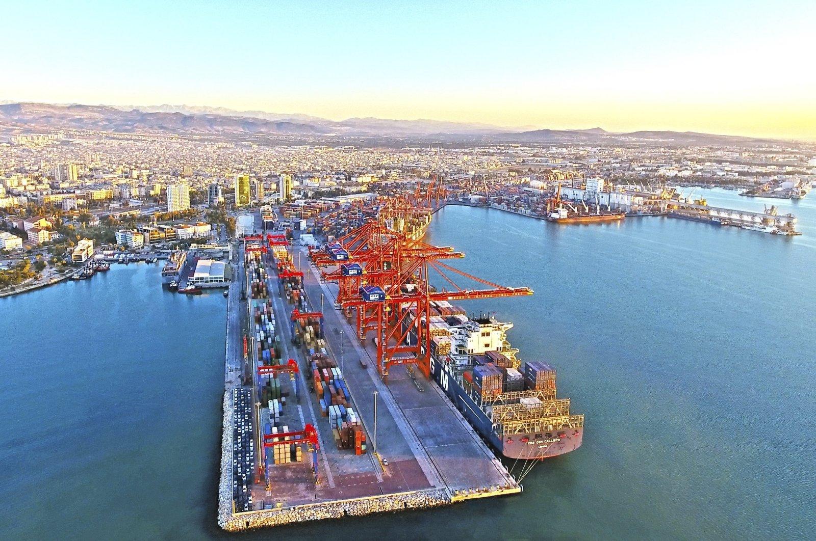 The Mersin International Port on Turkey's Mediterranean coast, July 20, 2019. (IHA Photo)