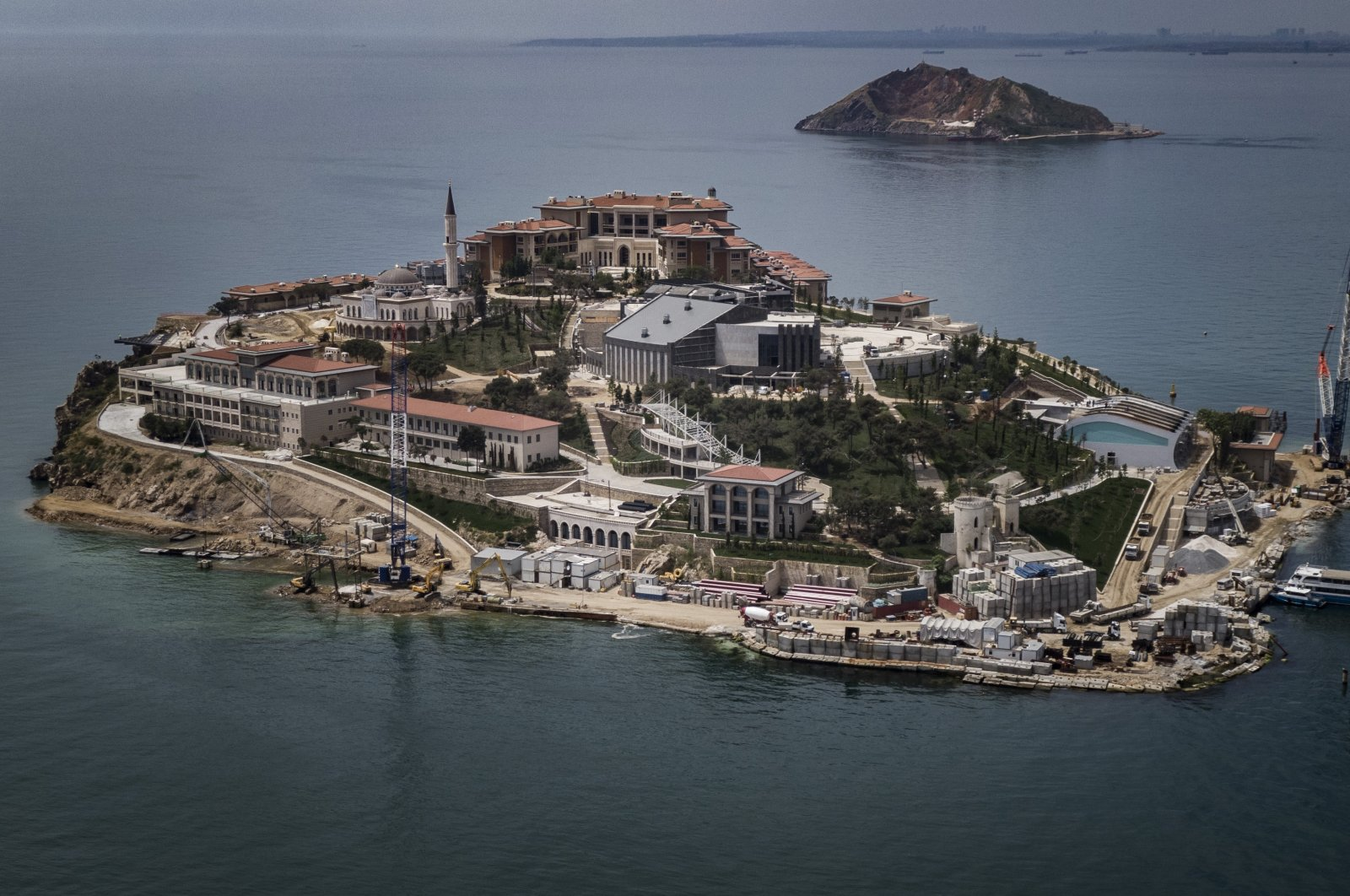 An aerial view of the Democracy and Freedom Island, where Yassıada hearings took place after the 1960 military coup. (DHA Photo)