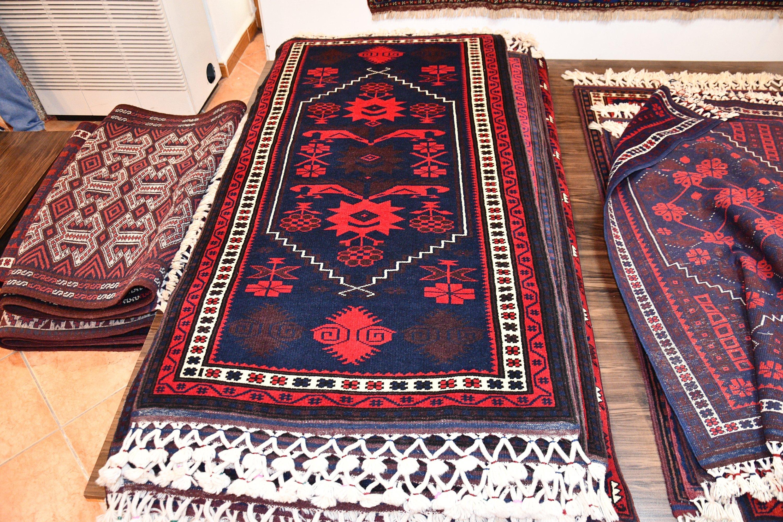 Some Yağcıbedir carpets are seen in Sındırgı district, Balıkesir, western Turkey, Oct. 14, 2020. (AA Photo)