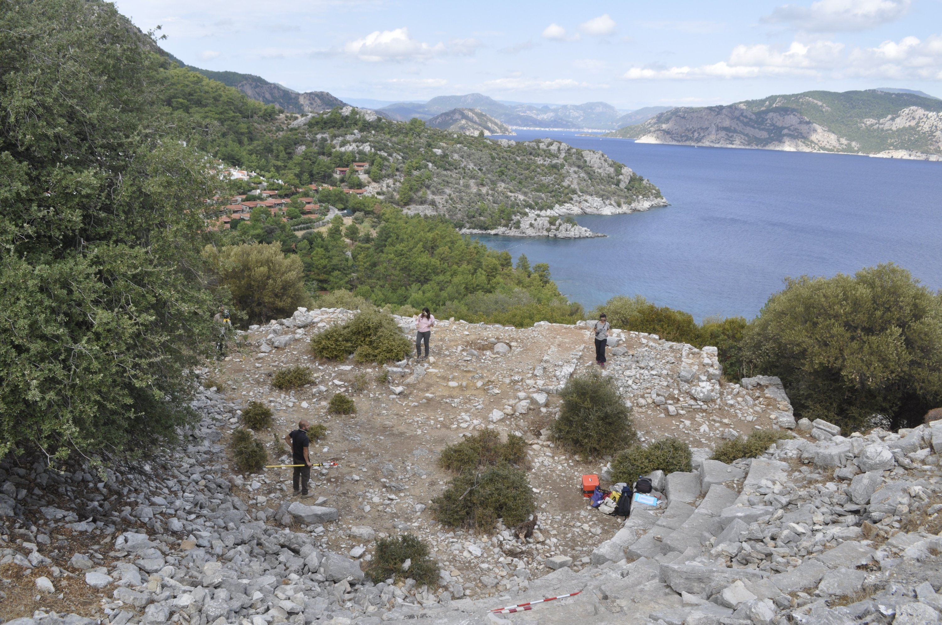 The theater of the ancient city of Amos is seen in Muğla, southwestern Turkey, Oct. 14, 2020. (IHA Photo)