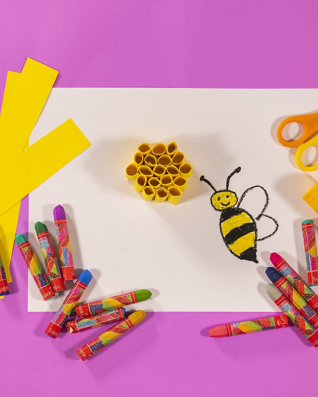 """In the """"Designing Honeycombs"""" workshop, children will produce their own mini honeycomb using paper."""