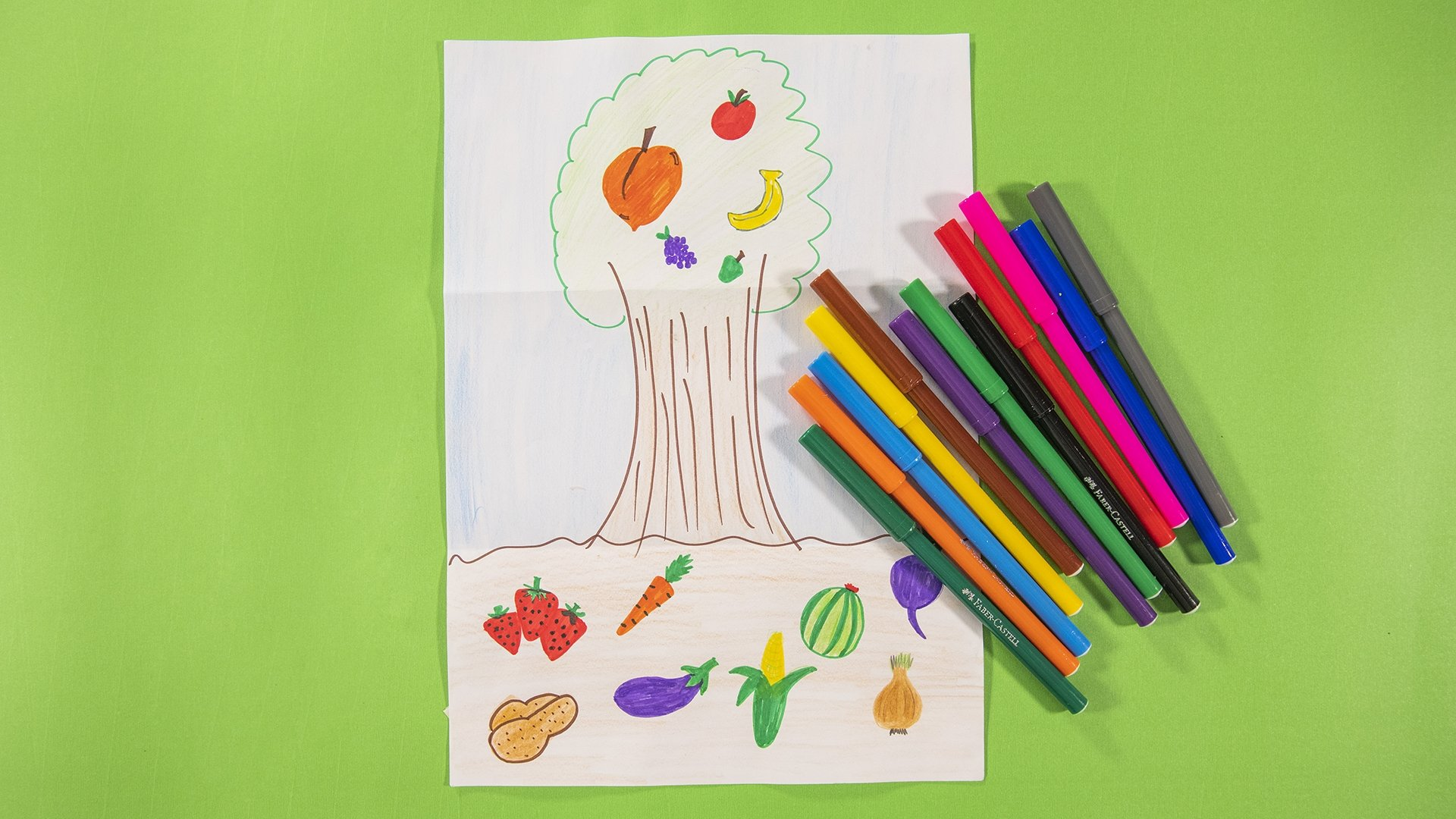 """In the """"Drawing Ecological Gardens"""" workshop, children will draw a picture of the garden they dream of."""