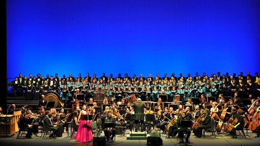 Istanbul State Opera and Ballet performs a concert at Süreyya Opera House, Kadıköy, Turkey, Oct. 12, 2019. (AA Photo)