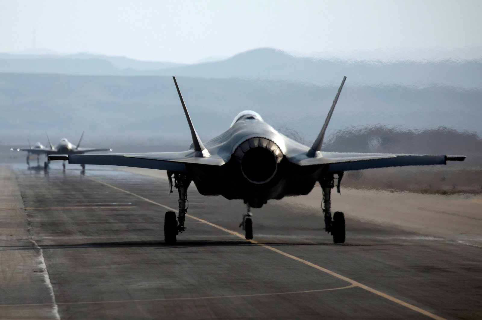 """An Israeli F-35 aircraft is seen on the runway during """"Blue Flag,"""" an aerial exercise hosted by Israel with the participation of foreign air force crews, at Ovda military air base, southern Israel, Nov. 11, 2019. (Reuters Photo)"""