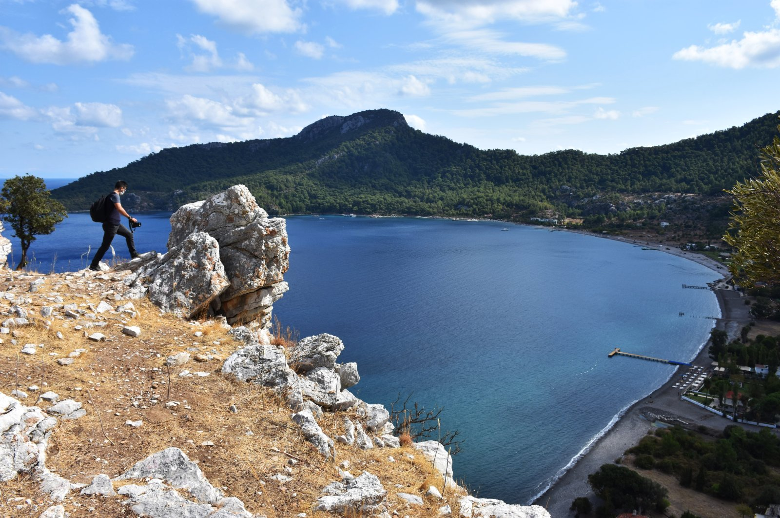 The ancient city of Amos is located at a dominant point that overlooks the surrounding bays, Muğla, southwestern Turkey, Oct. 13, 2020. (AA Photo)