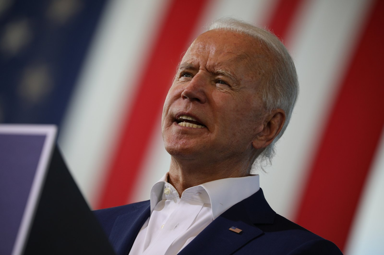U.S. Democratic presidential candidate Joe Biden delivers remarks during a voter mobilization event, at Miramar Regional Park in Miramar, Florida, U.S., Oct. 13, 2020. (Reuters Photo)