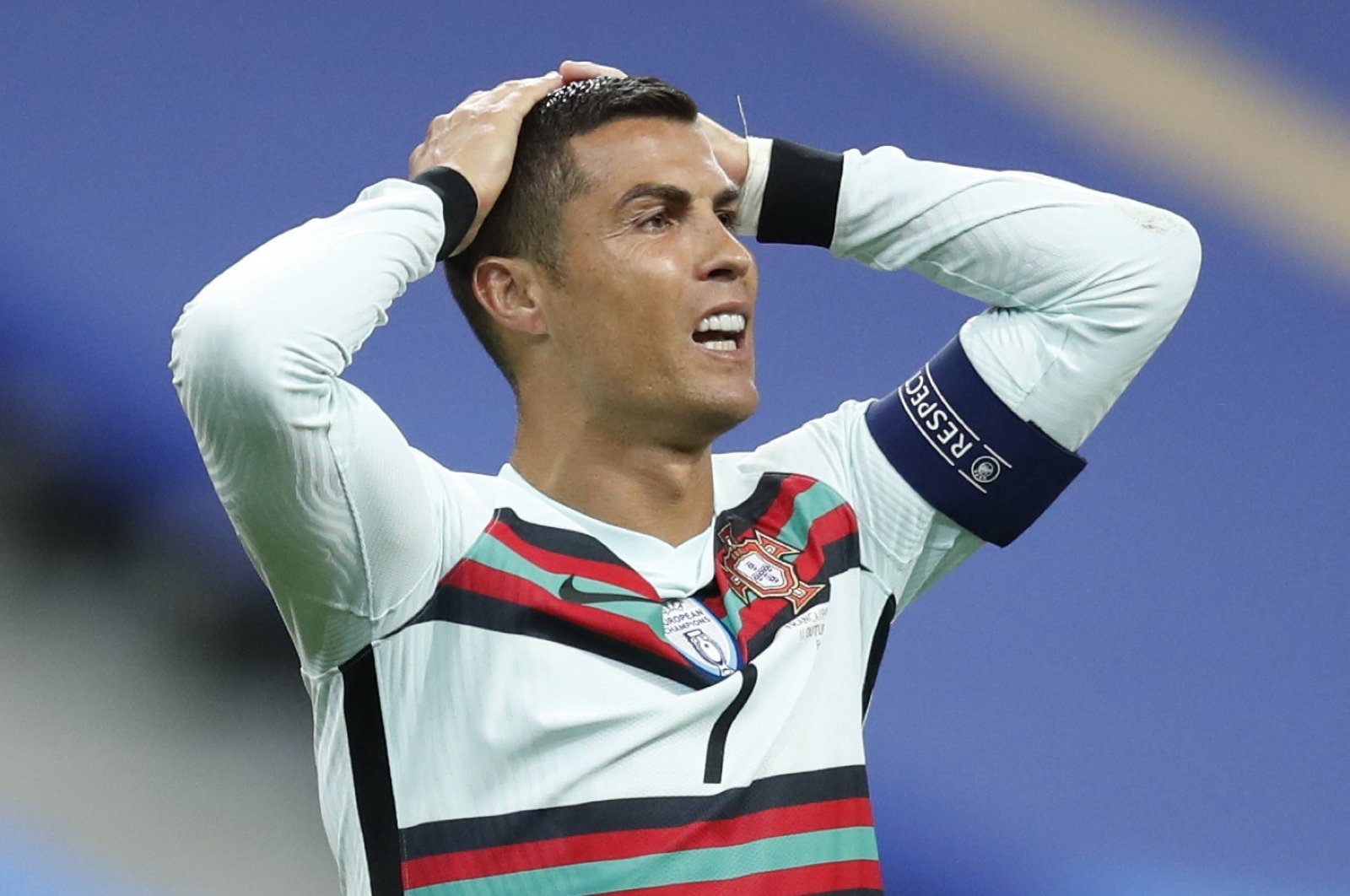 Portugal's Cristiano Ronaldo reacts during a UEFA Nations League match against France, in Paris, France, Oct. 11, 2020. (Reuters Photo)