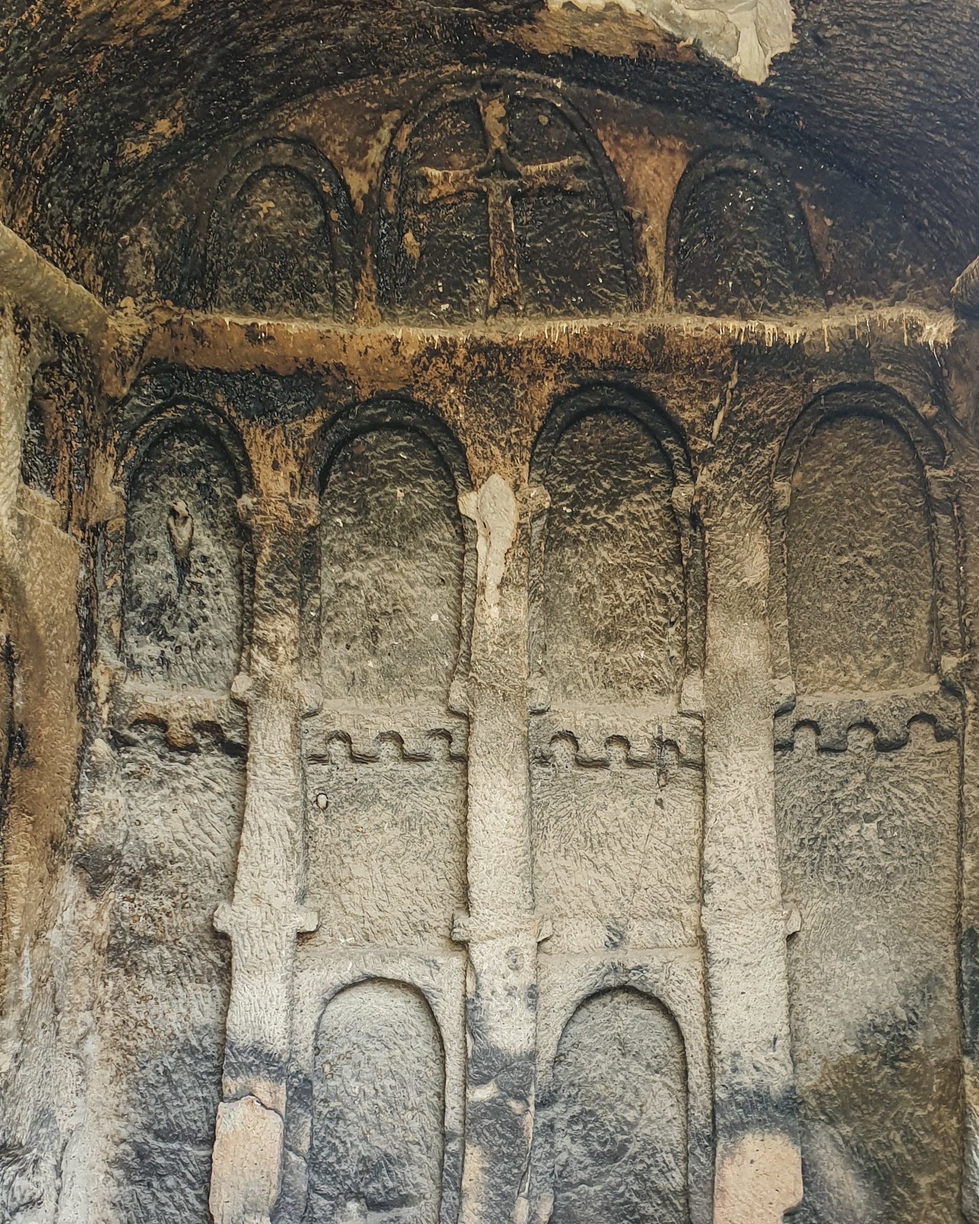Une église rupestre à Mahkemeağcin, Kızılcahamam à Ankara.  (Photo par Argun Konuk)
