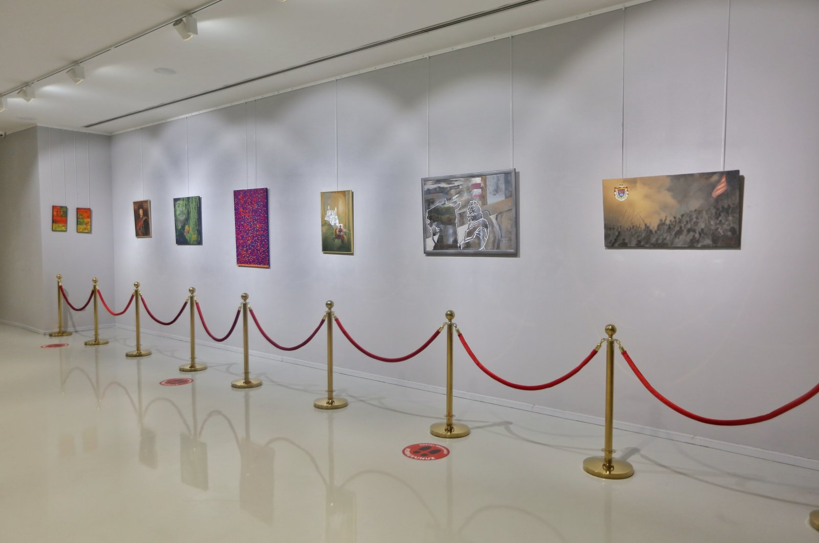 """A view from the """"A Hungarian Prince in Istanbul: Contemporary Encounters with Ferenc Rakoczi II"""" exhibition."""