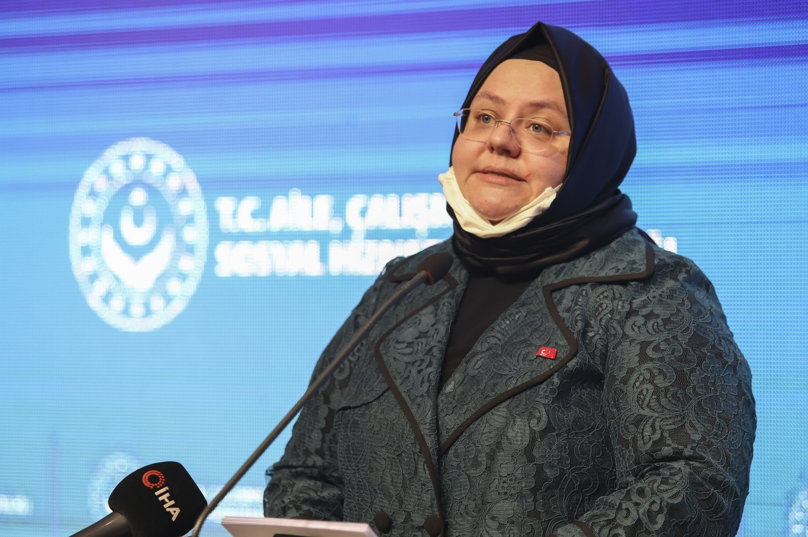 Family, Labor and Social Services Minister Zehra Zümrüt Selçuk speaks at an event in the capital Ankara, Turkey, Oct. 6, 2020. (İHA Photo)
