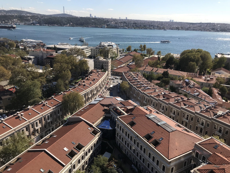 A view of Akaretler Sıraevler.