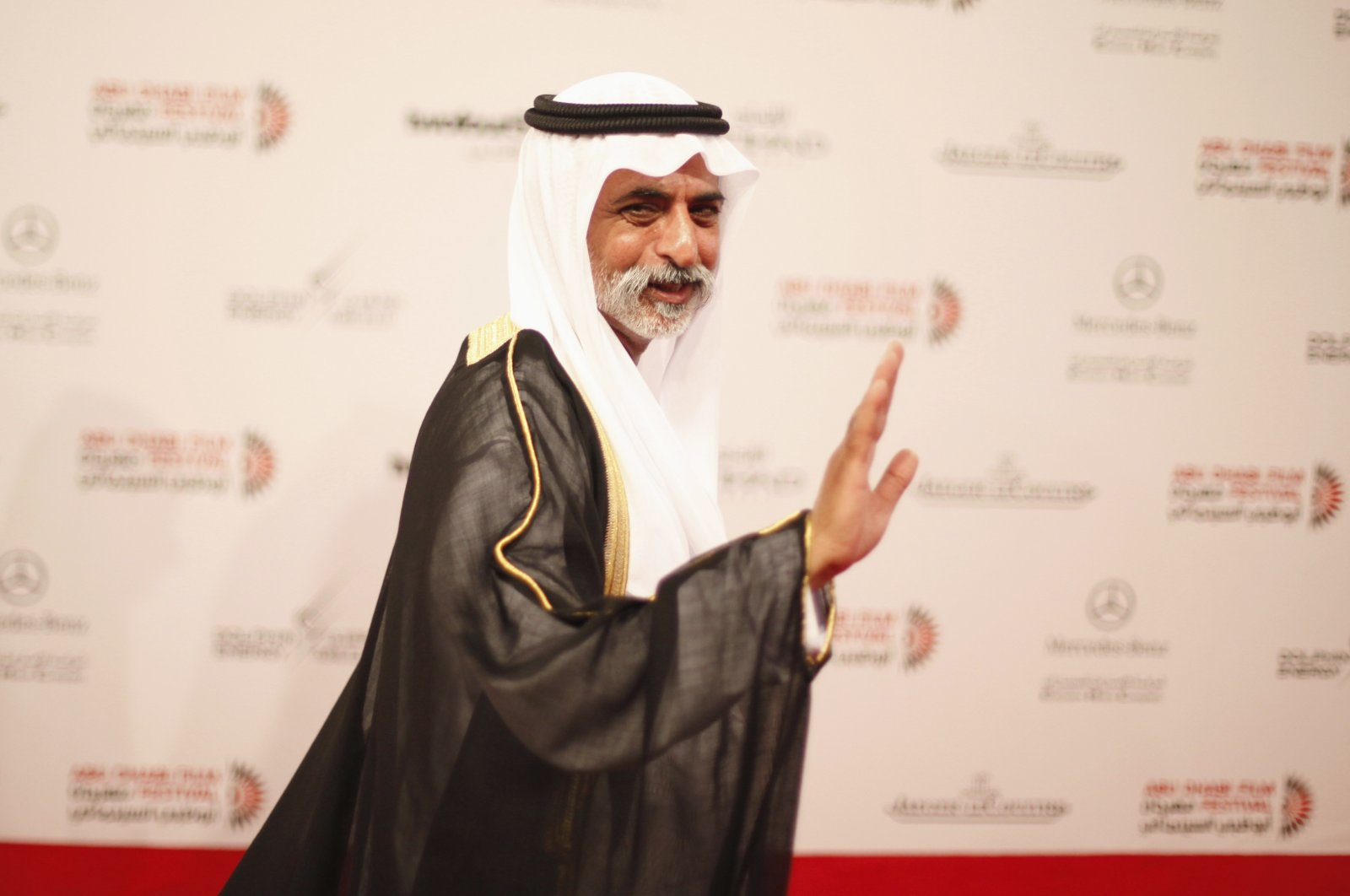Sheikh Nahyan Bin Mubarak Al Nahyan, then-UAE minister of higher education and scientific research, arrives during the opening of the Abu Dhabi Film Festival, Oct.11, 2012. (Reuters Photo)