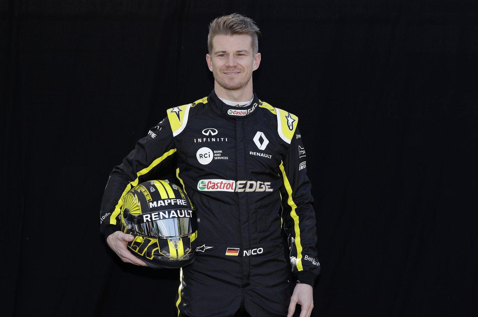 Nico Hulkenberg poses for a photo before F1 Australian GP in Melbourne, Australia, March 14, 2019. (AP Photo)