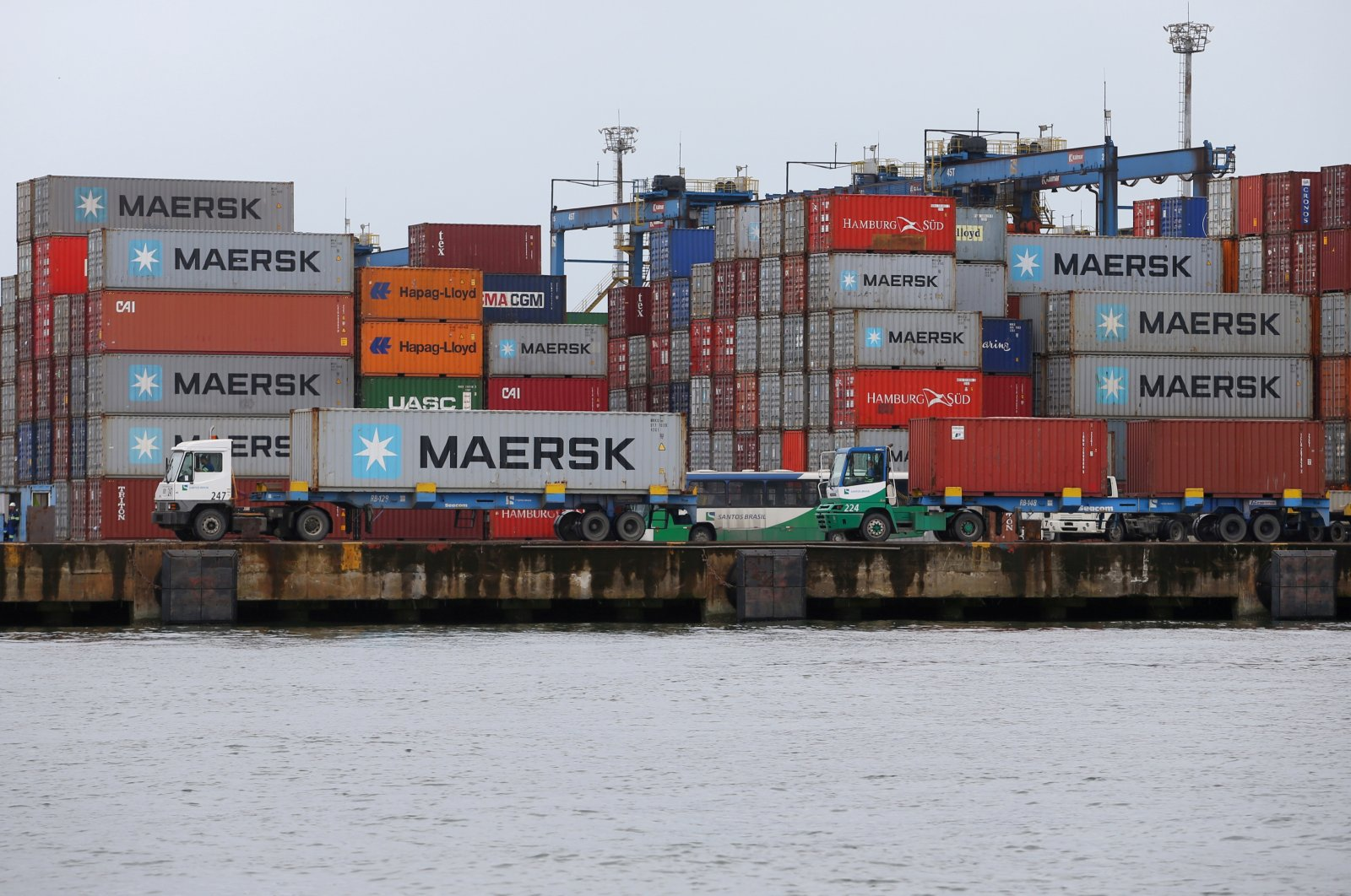 Maersk containers are seen at the Port of Santos, Brazil, Sept. 23, 2019. (Reuters File Photo)