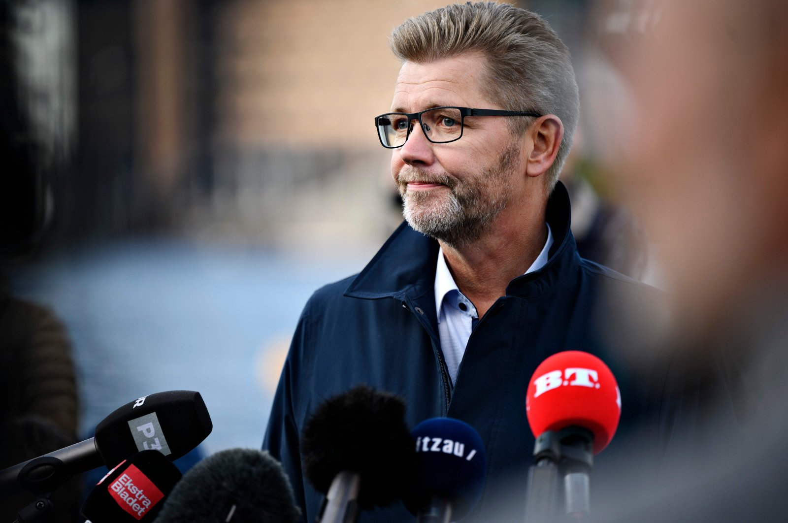 Copenhagen Mayor Frank Jensen holds a press conference at Islands Brygge, Copenhagen, Oct. 19, 2020. (AFP Photo)