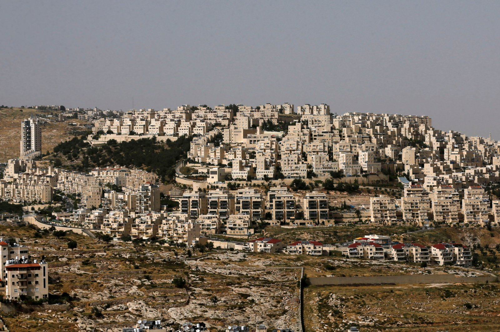 The Israeli settlement of Har Homa in the Israeli-occupied West Bank, Palestine, May 19, 2020. (Reuters Photo)