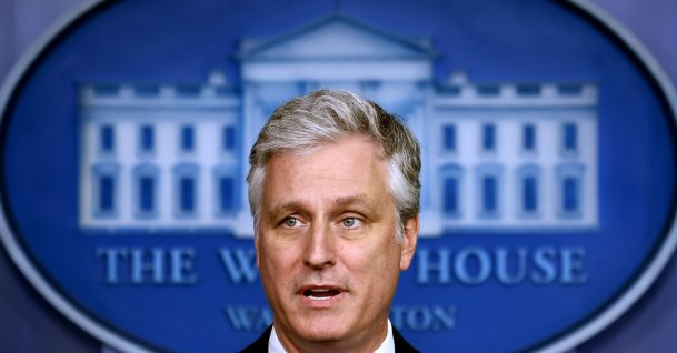National Security Advisor Robert O'Brien speaks during a press briefing at the White House, in Washington, D.C., Aug. 13, 2020. (AFP Photo)