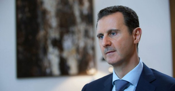 Bashar Assad, speaking during an interview with Iran's Khabar TV, in Damascus, Syria on Oct. 4, 2015. (AP Photo)