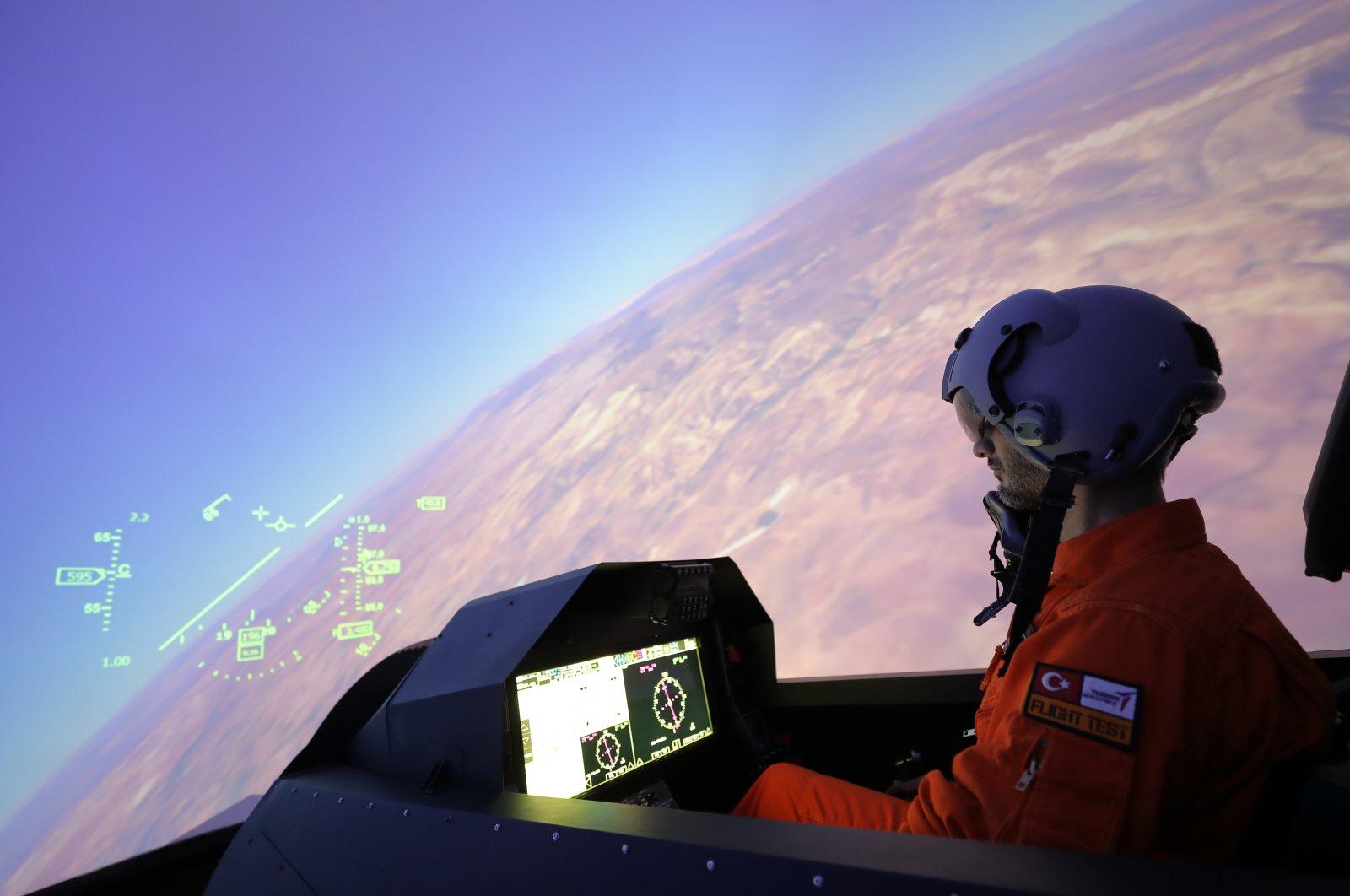 A flight simulator at the Turkish Aerospace Industries (TAI), Ankara, Turkey, Oct. 20, 2020. (Photo by TAI via AA)