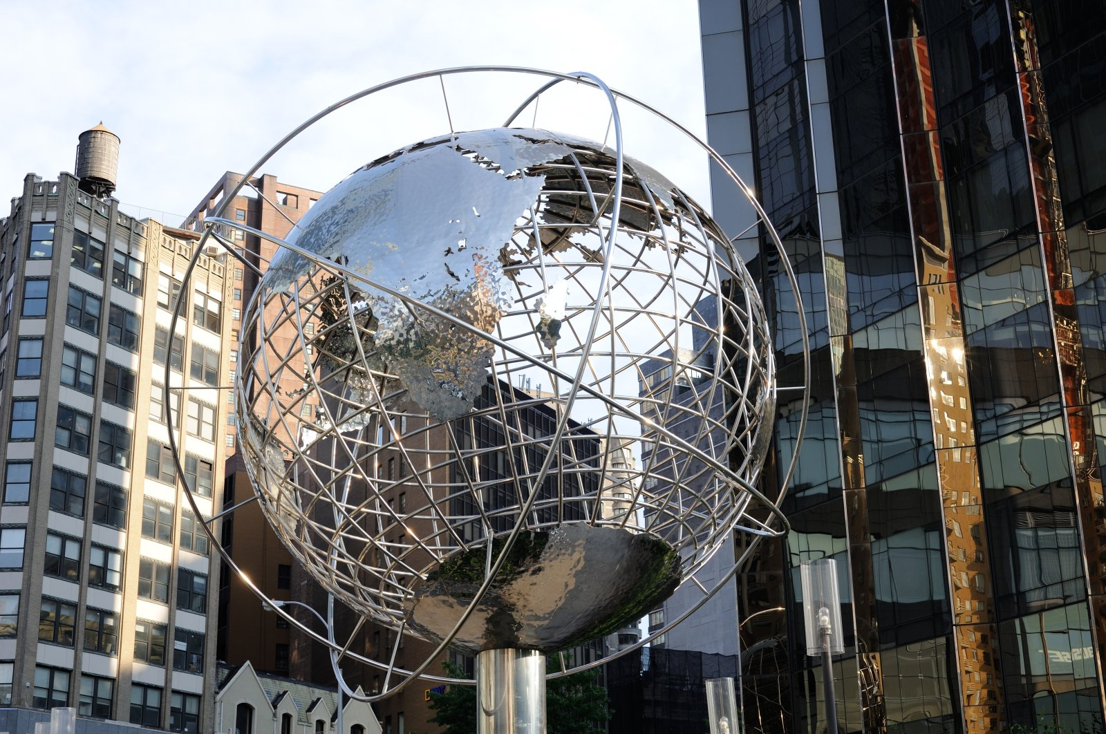 The globe statue outside Trump International Hotel and Tower, on 1 Central Park West, New York City, U.S., June 22, 2016. (iStock Photo)