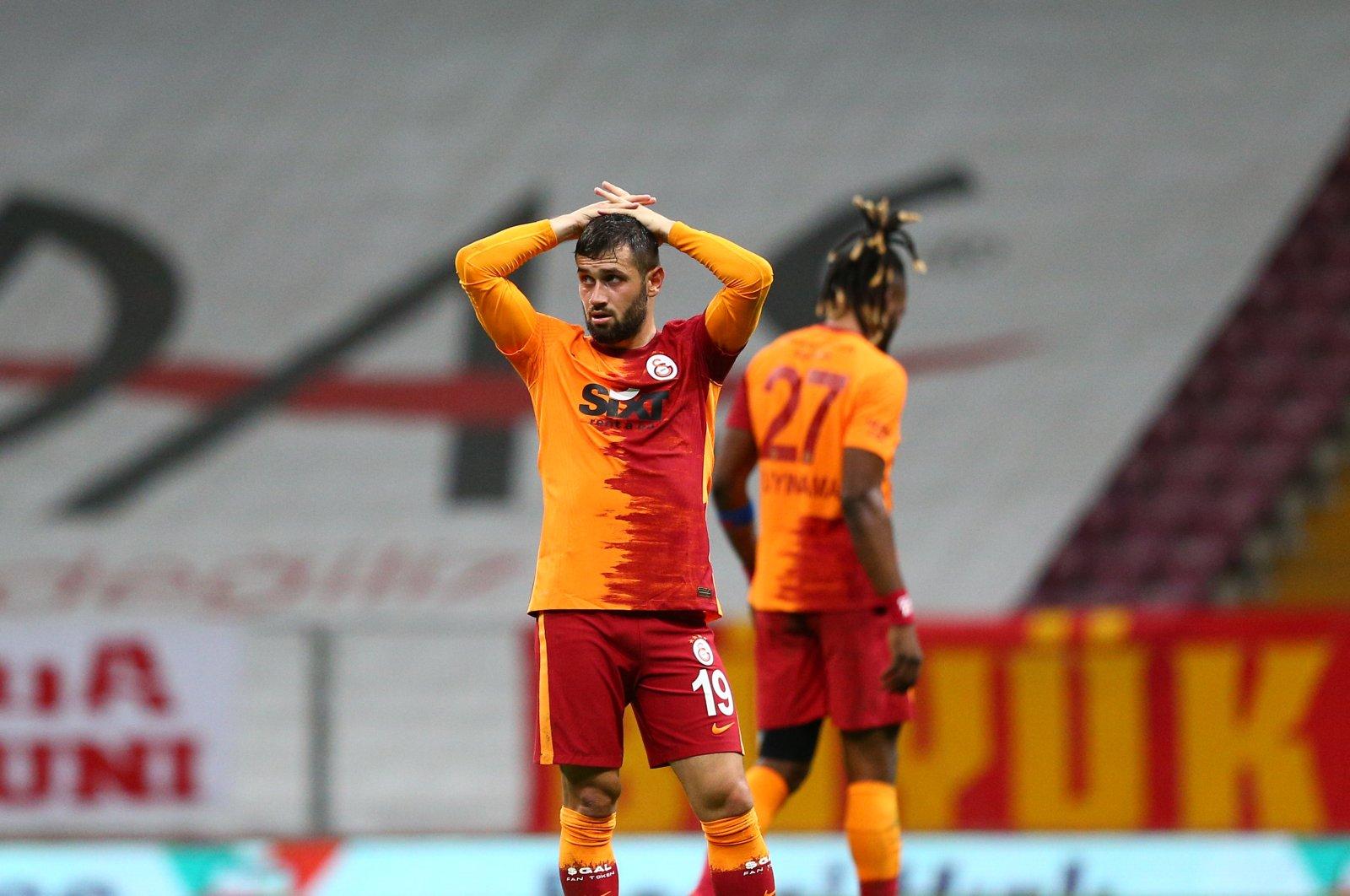 Galatasaray's Ömer Bayram reacts after the Süper Lig match against Alanyaspor, in Istanbul, Turkey, Oct. 19, 2020. (AA Photo)