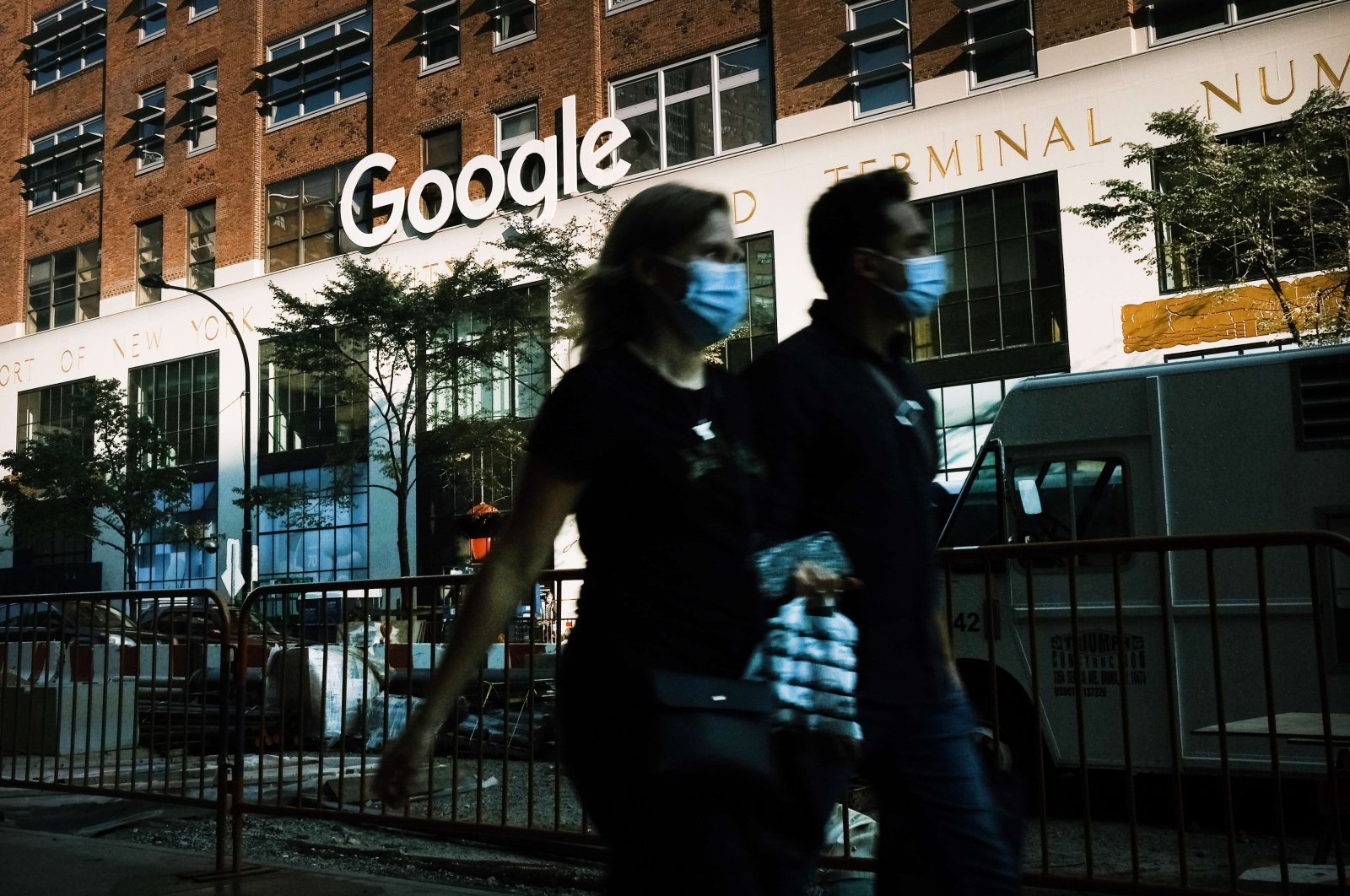 Google's office in downtown Manhattan, New York on Oct. 20, 2020. (AFP Photo)
