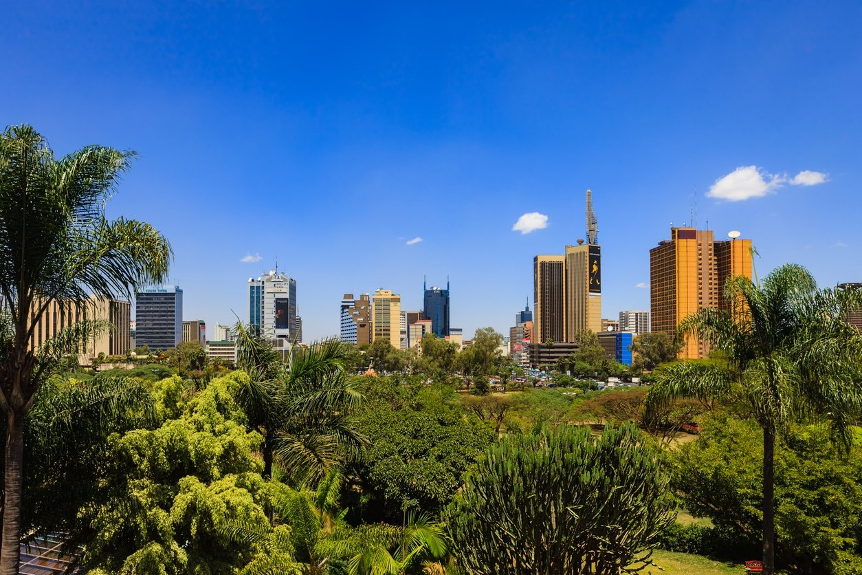 Kenyatta Avenue in downtown Nairobi seen from a park, Kenya, March 5, 2011. (iStock Photo by Chandra Dhas)