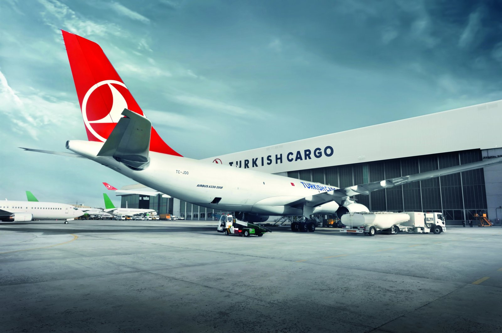 A cargo aircraft of Turkish Cargo, a brand of Turkish Airlines (THY), at the now-closed Atatürk Airport, Istanbul, Turkey, Oct. 31, 2017. (AA Photo)