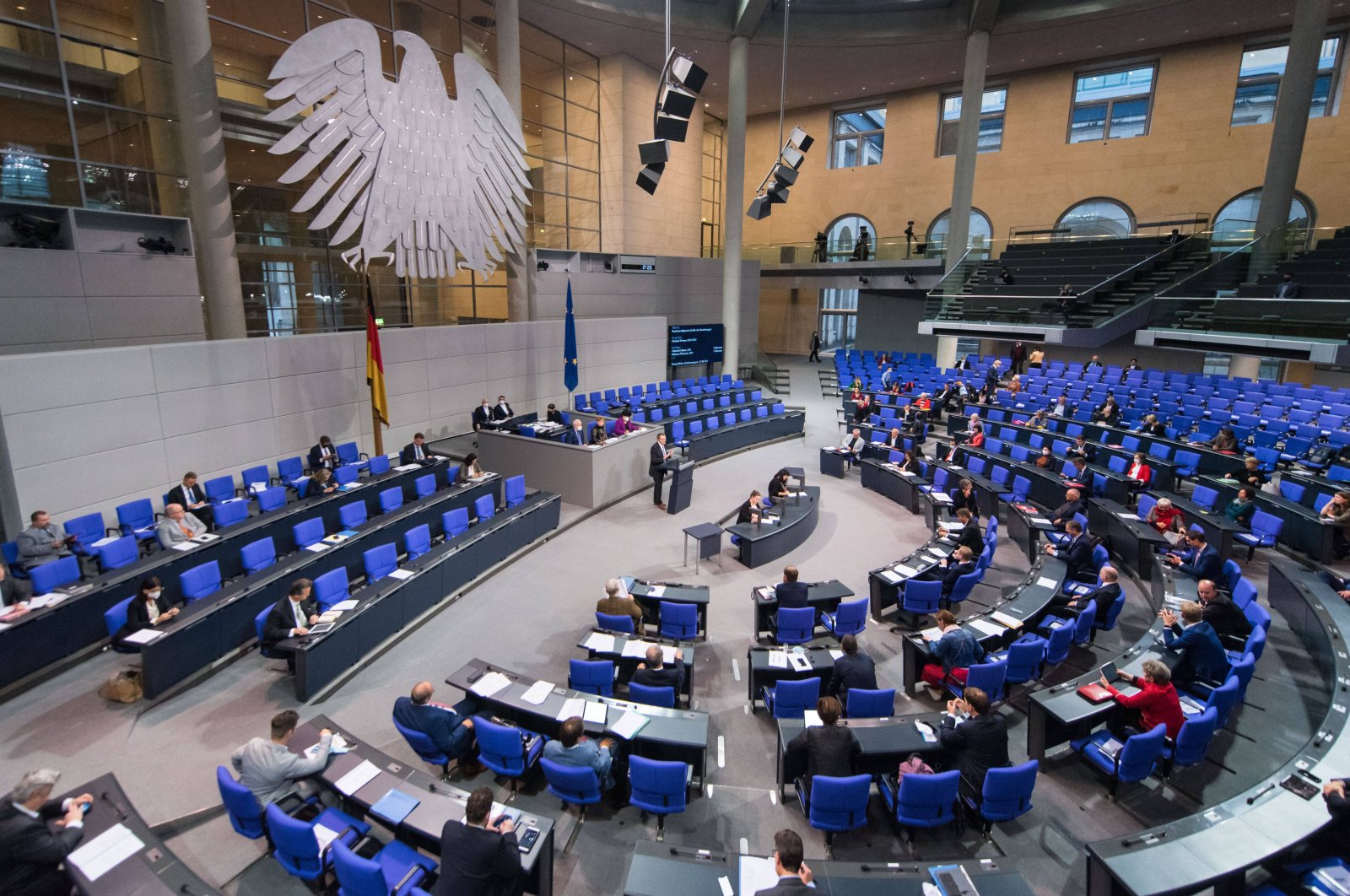 A plenary session is in progress at the German parliament in Berlin, Oct. 8, 2020 (Reuters Photo)