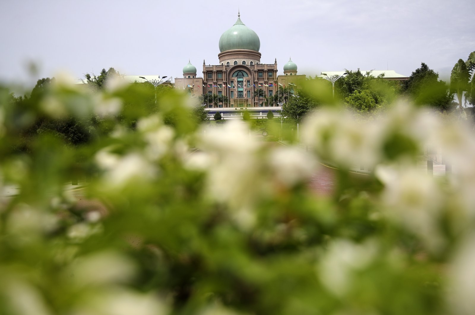 A general view of Prime Minister's Office in Putrajaya, Malaysia, 23 October 2020. Multiple news outlets are reporting that Prime Minister Muhyiddin Yassin is seeking to be conferred special emergency powers to better manage the government's responce to the COVID-19 pandemic, through an audience with the Malaysian King, according to local media reports. (EPA Photo)