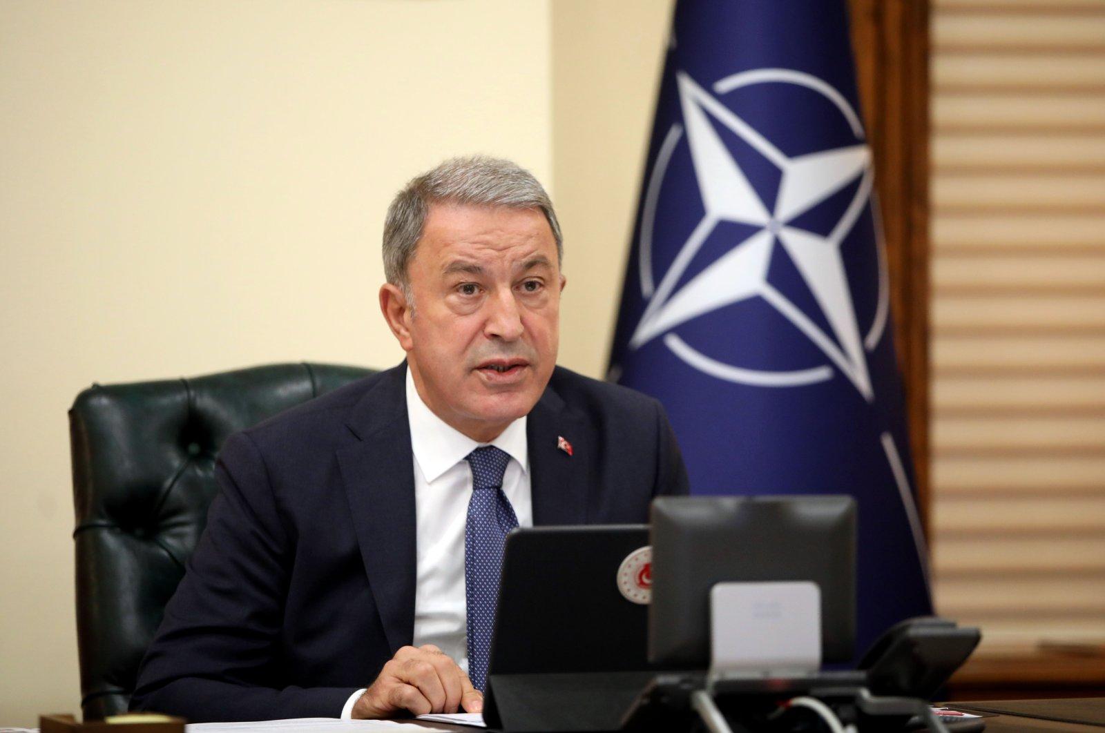 Defense Minister Hulusi Akar. (AA Photo)