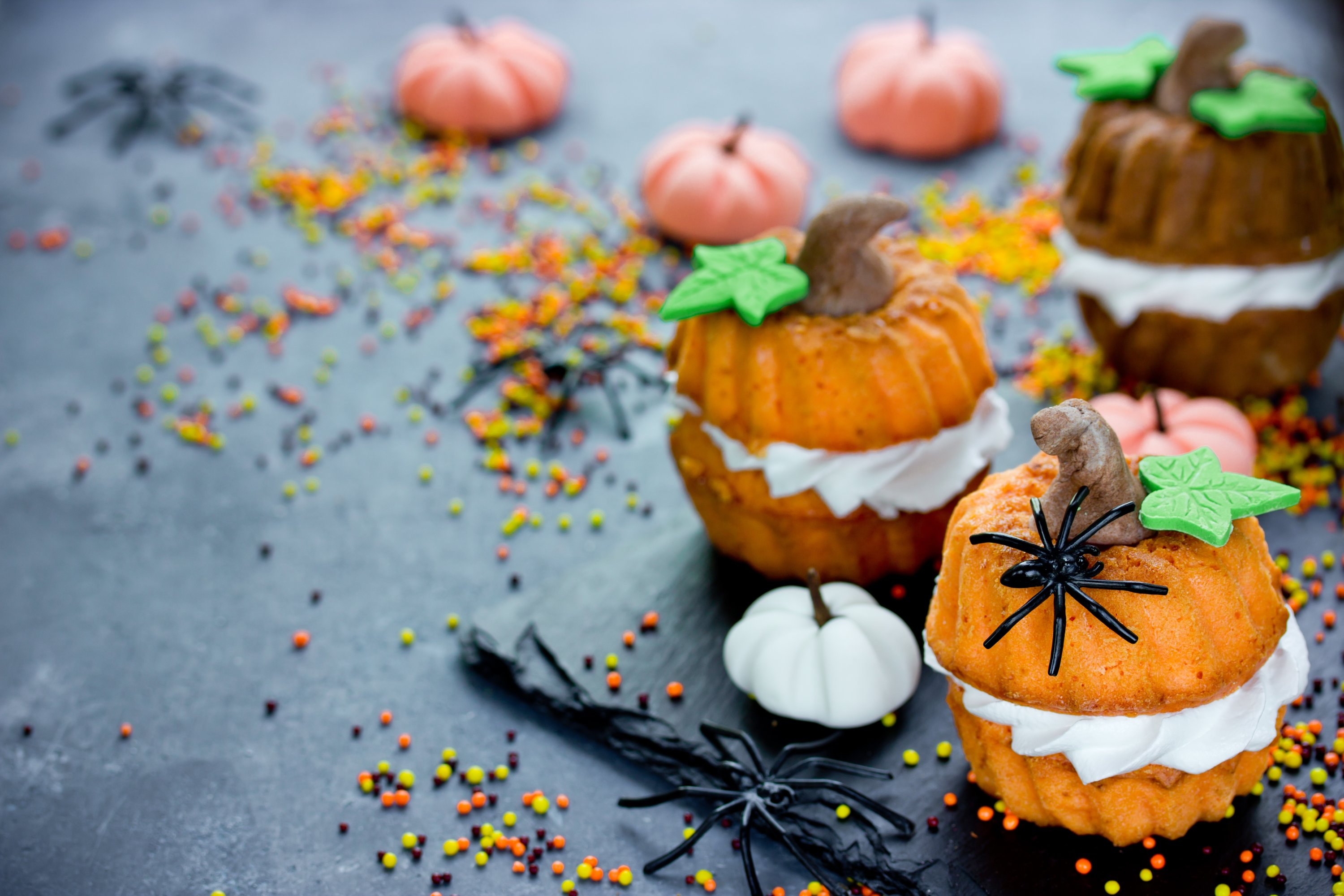 If you want to make smaller jack-o'-lanterns, you can always skip the lights and the carving. (Shutterstock Photo)
