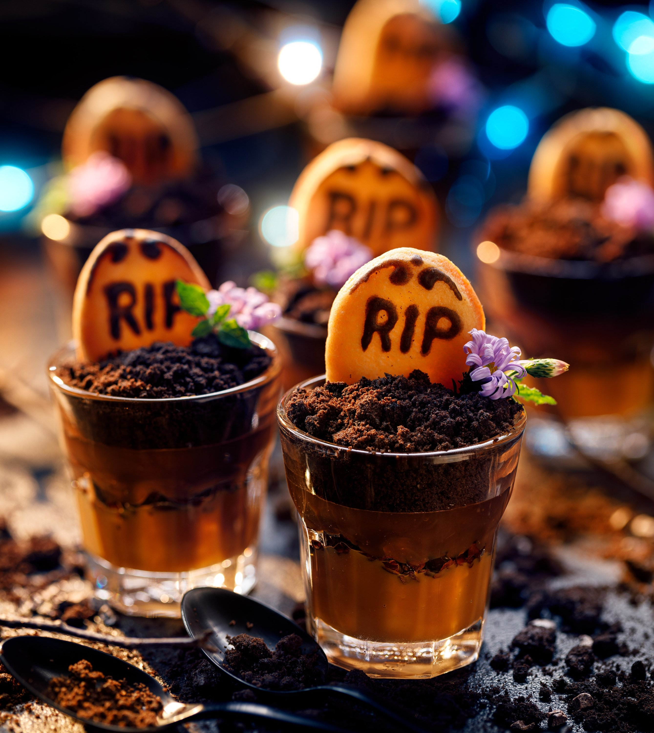 You can decorate your graveyard cookie cups with sprinkles, Oreos or edible flowers. (Shutterstock Photo)